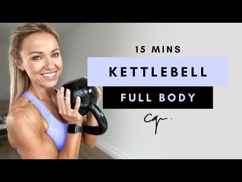 15 Min FULL BODY KETTLEBELL WORKOUT at Home | Caroline Girvan
