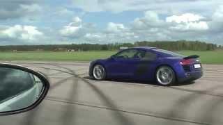 Uncut Audi R8 4,2 V8 Exclusive vs BMW M3 Coupe V8  6-speed manual