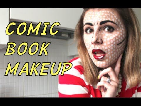 COMIC BOOK MAKEUP - Get Ready With Me (Halloween Edition)