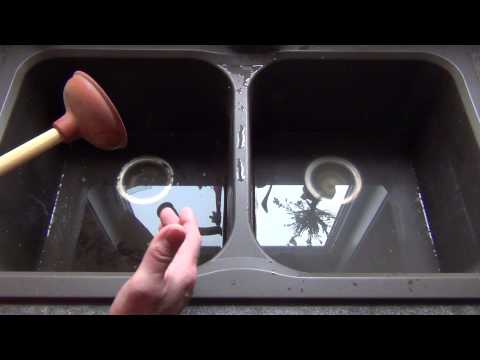How To Unplug Your Kitchen Sink Using A Plunger! Plumbing Tips!