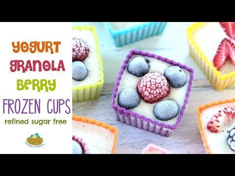 Frozen Yogurt Granola Berry Cups +12 Months recipe