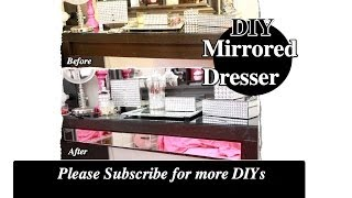 Diy Decorate Your Vanity With Mirrors |ikea Hack Malm Dressing Table