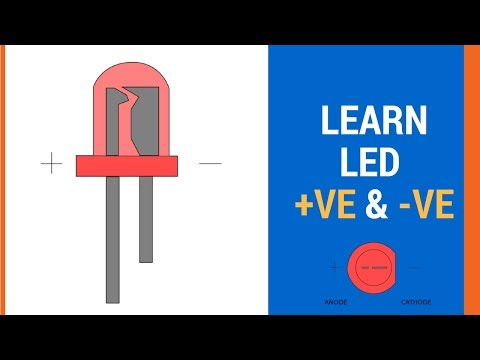 Identify led positive and negative terminals - electronics #3