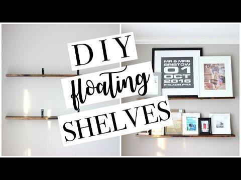 DIY FLOATING SHELVES | Easy + Affordable | Farmhouse Style