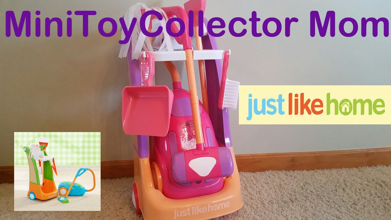 Just Like Home Toy Set : Just like home cleaning trolley set with sunshine the cat! youtube