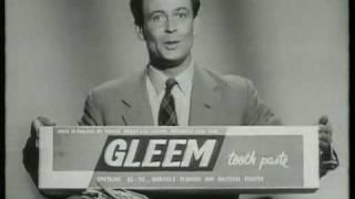 Drene/Gleem Contest 1950's UK TV advert/commercial