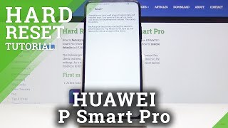 Huawei P Smart Pro Factory Reset / Wipe Data