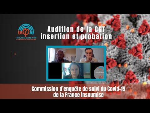 Commission d'enquête de la France insoumise sur le COVID19 - CGT Insertion probation