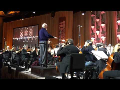 John Williams conducts 'Theme from Schindler's List', Shoah Foundation rehearsal. December 8, 2016