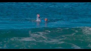 הגולש האוסטרלי, מיק פאנינג, מותקף על ידי כריש בזמן תחרות; צילום  World Surf League, רויטרס
