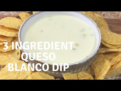 3 Ingredient Queso Blanco Dip! Mexican Restaurant Style! with Chef Kristi