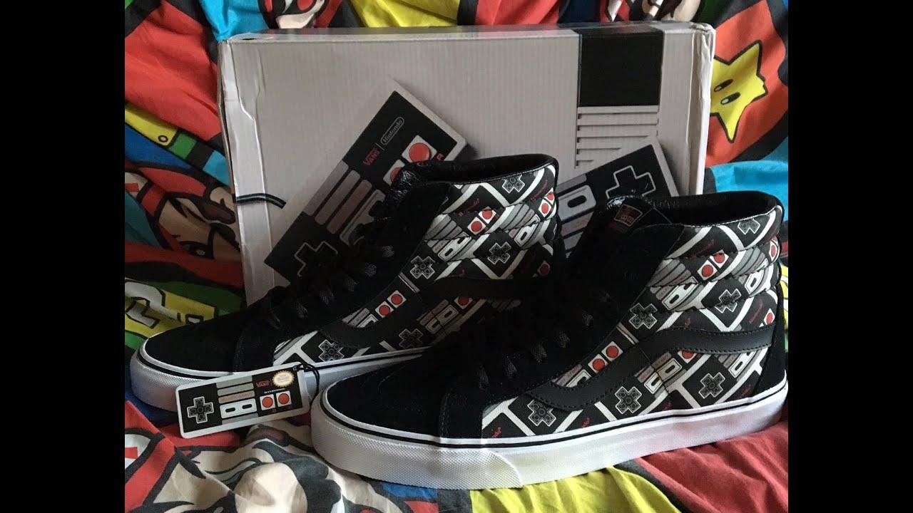 19c8ac83fc Unboxing Vans Sk8-Hi NES Shoes - YouTube
