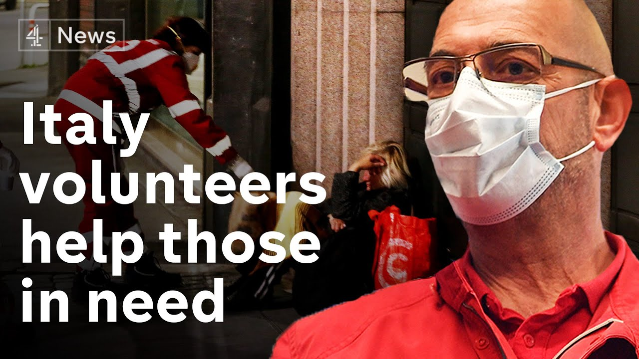 Italian volunteers risk lives for the sick and isolated