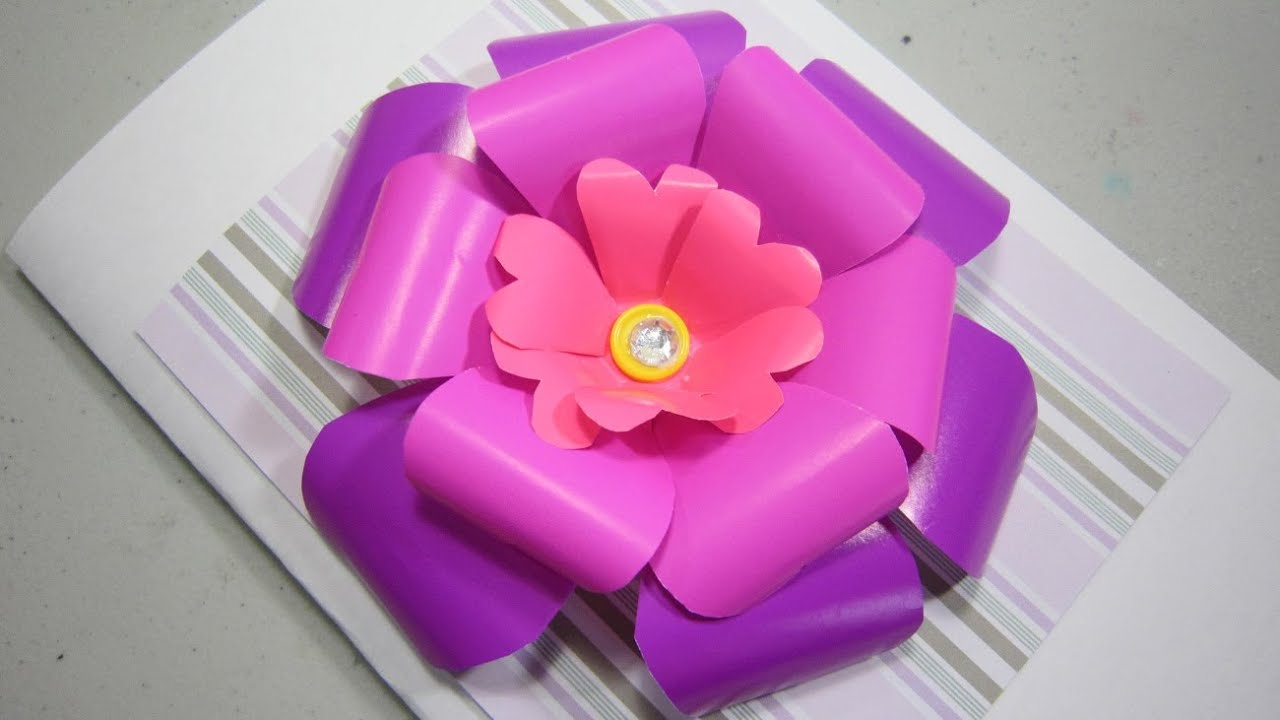 Paper Craft Make A 3d Scrapbooking Paper Flower Ep 508