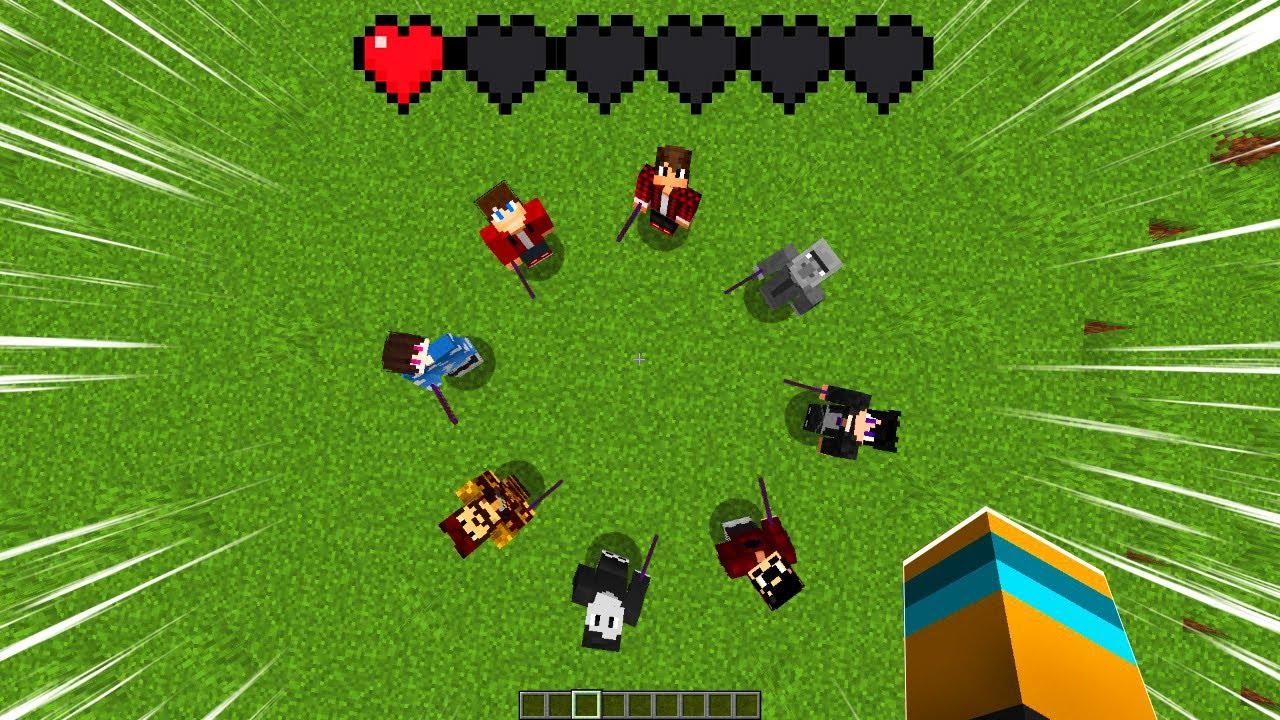 Minecraft mas se eu tomar um hit eu perco