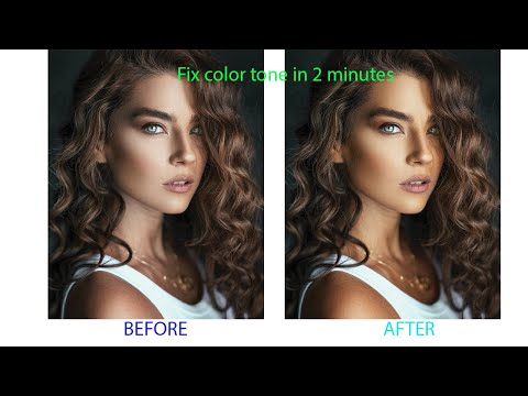 how to fix skin tone in photoshop in 2 Minutes |ফটোশপের মাধ্যমে ছবির কালার পরিবর্তন  | color tone