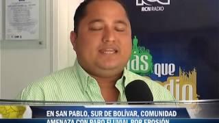 En San Pablo, sur de Bolívar, comunidad amenaza con paro fluvial por erosión
