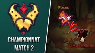 Gold League Championship #1 - Foxes vs OMAE Riktus - Match 2