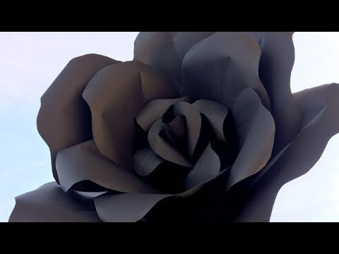 Paper flower making easy at home Black Rose DIY