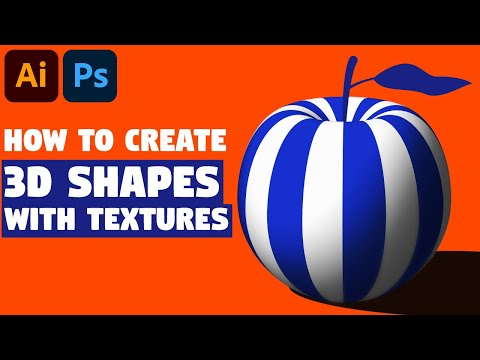 3D Shapes with Textures   Adobe Illustrator Tutorial