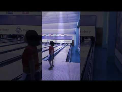 Playing bowling at Malaysia
