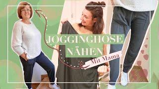 JOGGINGHOSE / Yogahose mit Taschen nähen - Das erste Mal für jemand anderen nähen (für meine Mama)!