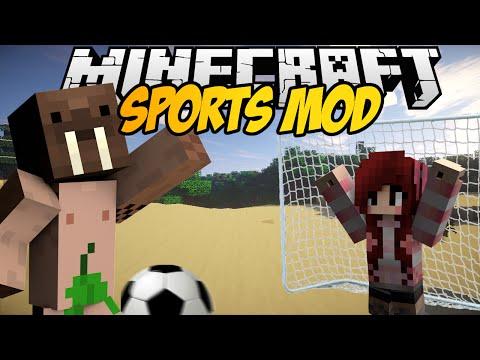 Minecraft mody! GRAJ W PIŁKĘ W MINECRAFT! KOSZYKÓWKA TENIS BASEBALL | SPORTS MOD