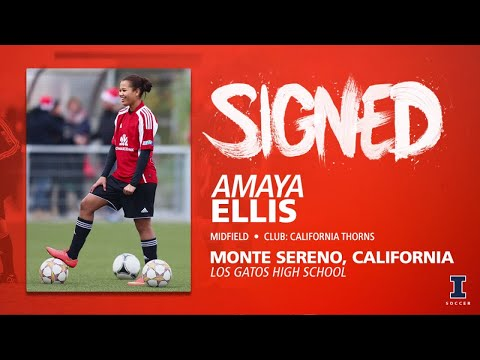 Illini Soccer Signed | Amaya Ellis