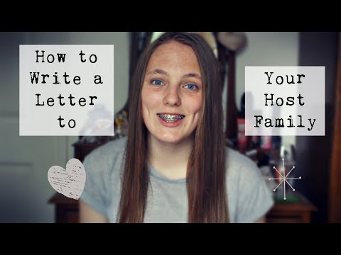 How to Write a Letter to your Host Family | Wakaran