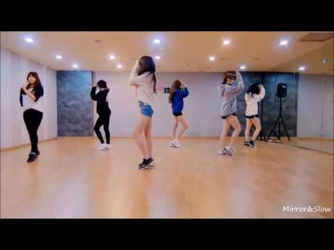[Mirrored and Slow 75%] GFRIEND - Rough Dance Practice