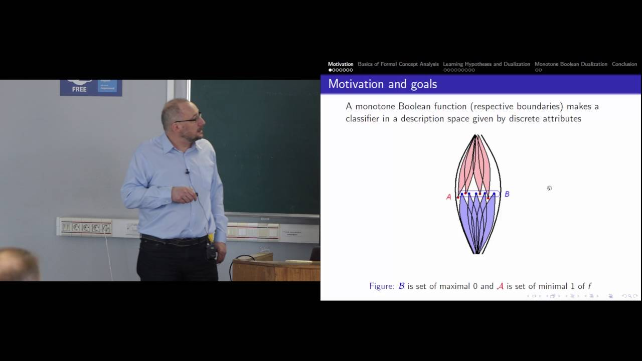 2016 Symbolic Machine Learning As Dualizing Monotone Boolean
