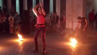 "Фаер-шоу группа ""Delonix"" Кривой Рог, парк парк Федора Мершавцева"