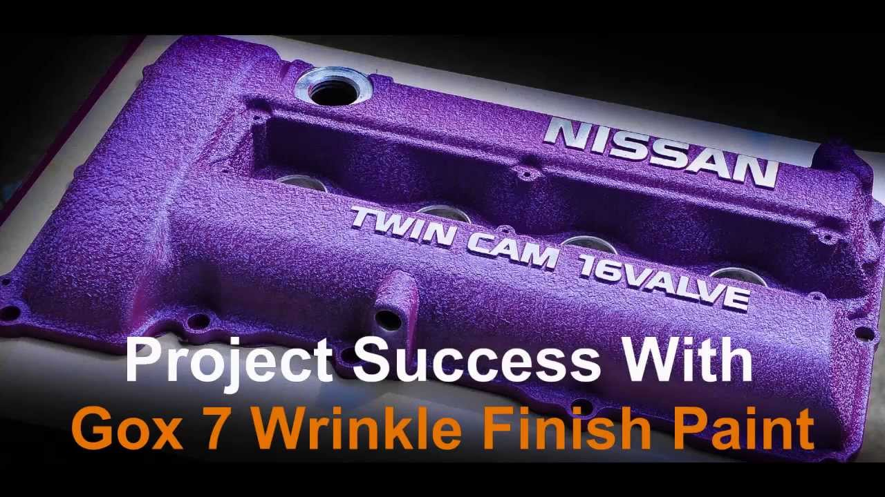 How to spray 2 tone wrinkle finish with Gox7 wrinkle paint ...