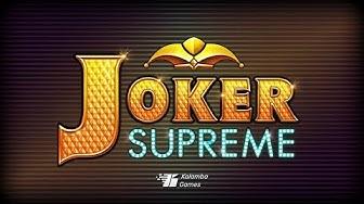 Joker Supreme slot featuring Free Spins, Hyper Bet, Hyper Bonus and Bonus Jackpot
