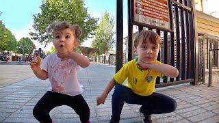 DIVERSÃO NO PARQUINHO INFANTIL COM MARCOS E LAURA - Outdoor Playground for Kids