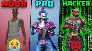 NOOB vs PRO vs HACKER - FREE FIRE   Kurko