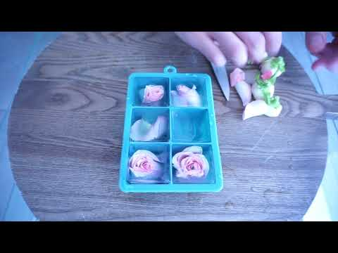 Easiest Flower Ice Cubes