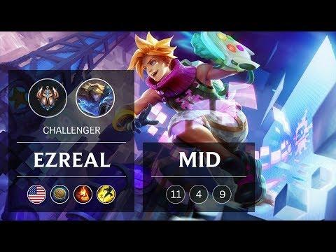 Ezreal Mid vs Galio - NA Challenger Patch 9.1