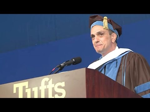 Hank Azaria delivers commencement address at Tufts University