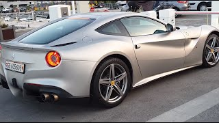 homepage tile video photo for Matte Silver Ferrari F12Berlinetta Tailor Made at Port Hercule, Monte Carlo [4k 60p]