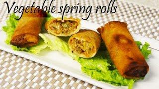 Vegetable Spring Rolls By Crazy4veggie.com