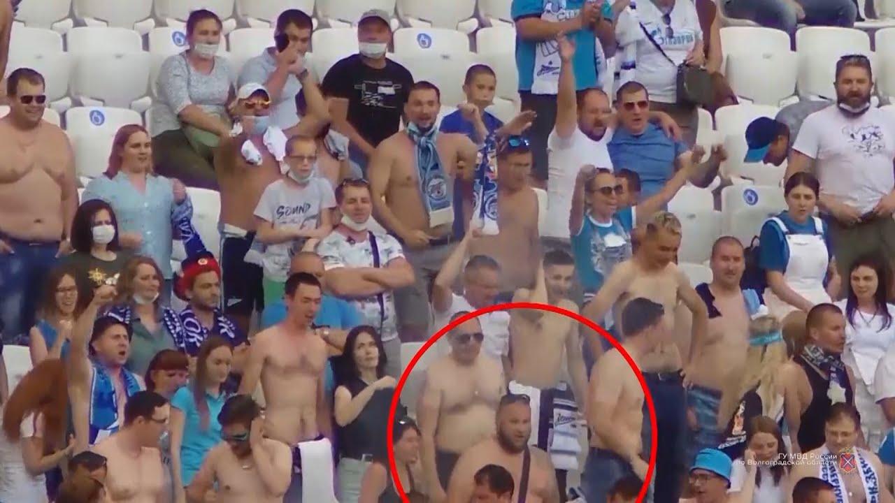 Болельщика «Зенита» задержали за бросок петарды на матче в Волгограде