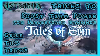 TALES OF ERIN Tricks to Boost Team Power for higher Leaderboard Ranking Rewards - Guide Tips F2P TOE