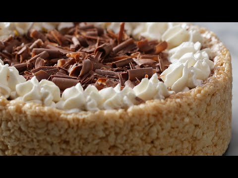 Crispy Rice Cereal Chocolate Cheesecake