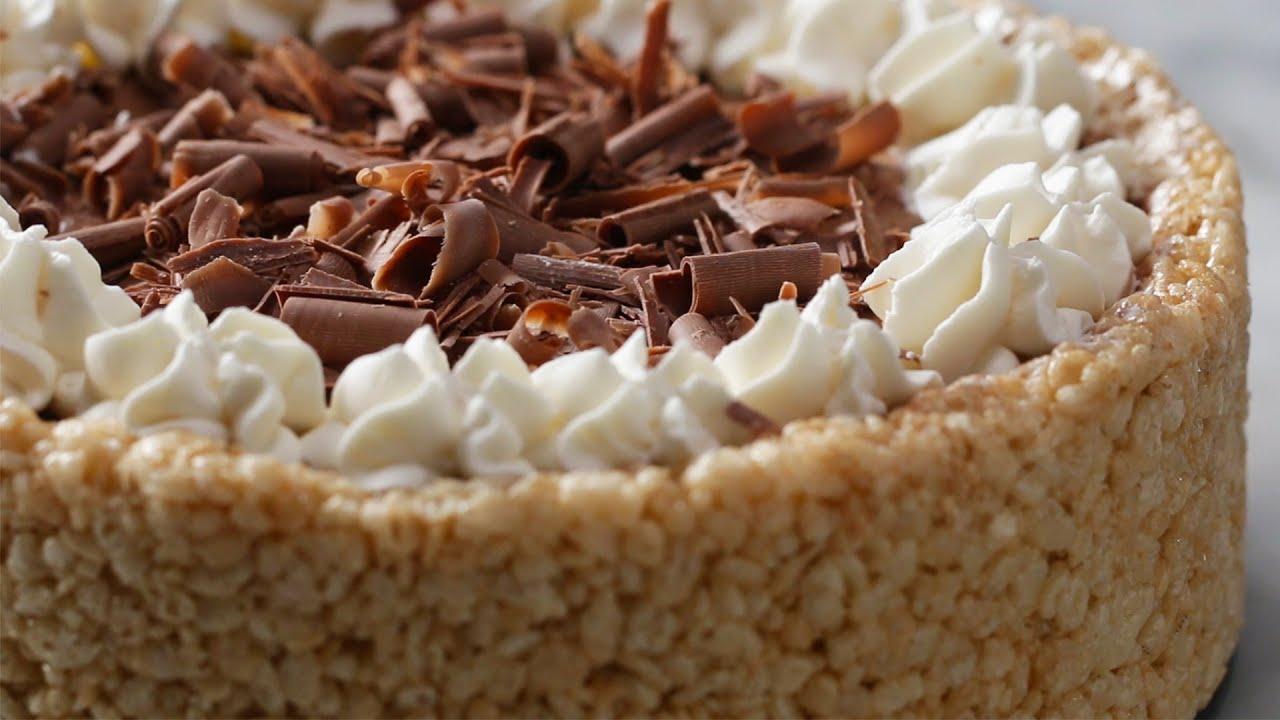 maxresdefault - Crispy Rice Cereal Chocolate Cheesecake