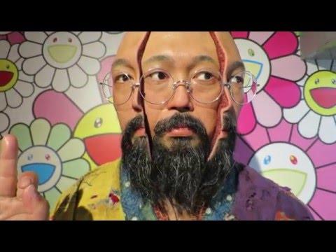 Takashi Murakami Animated Lifesize Sculpture in Nakano, Tokyo