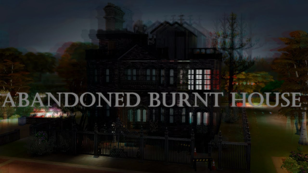 Abandoned Burnt House || Haunted Bay Collab [The Sims 4 Speed Build]