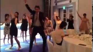 Indian dance Japanese wedding