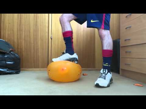 Balloon trampling with nike shox sneakers thumbnail