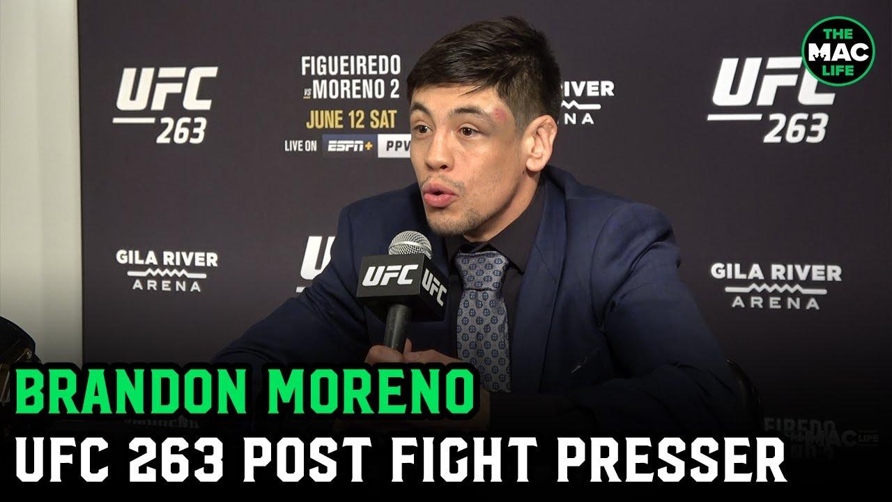 "Brandon Moreno: ""I worked so f***ing hard for that belt""  | UFC 263 Post-Fight Presser"